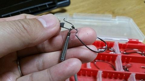 ジカリグの作り方、オフセットフック