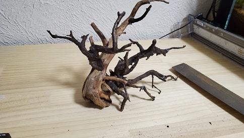 接着剤を使って流木を自分好みの形に作る方法