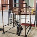 【DIY】おしゃれな屋根材を使った自転車場の作り方。