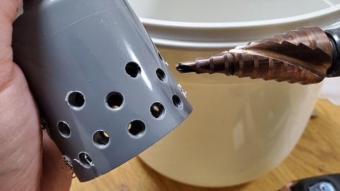 大型投げ込み式フィルター自作